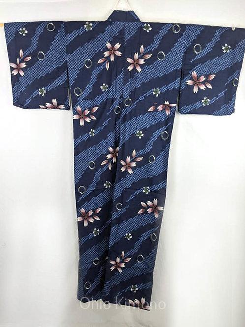 blue yukta for women with flowers
