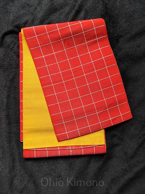Red Orange & Yellow Hanhaba Obi