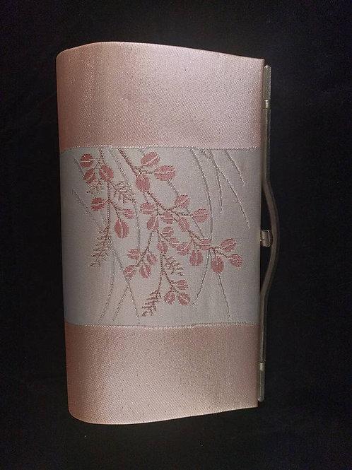 Pink & White Obi Clutch Purse