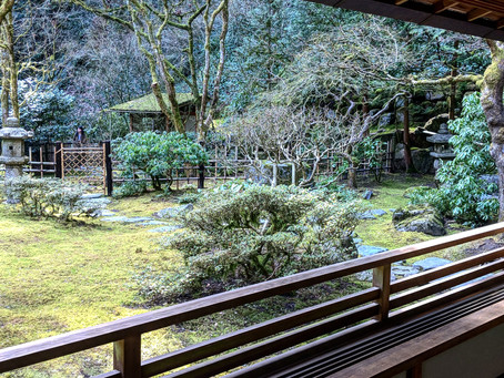 We visited the Portland Japanese Gardens