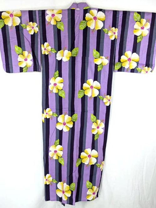 flower yukata from japan