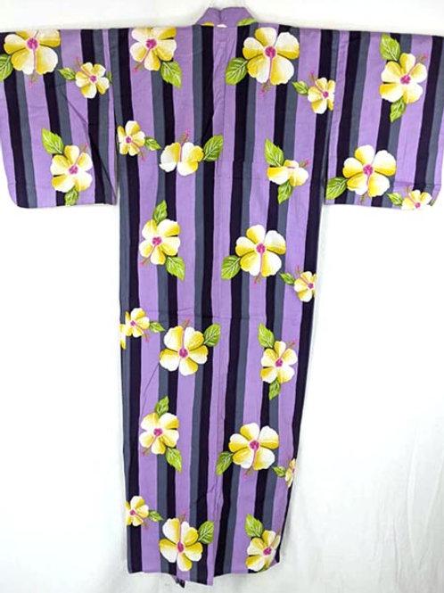 flower yukata from japan
