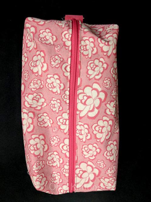 Pink & Off White Kitsuke Makeup Bag