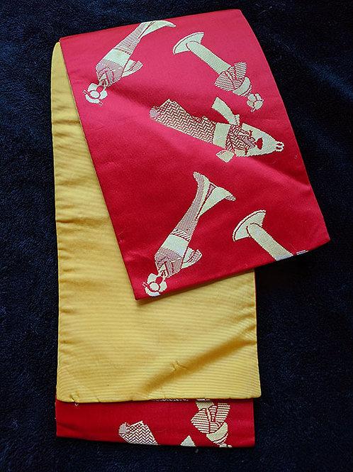Bold Red & Yellow Hanhaba Obi