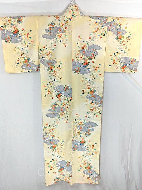 yellow japanese kimono