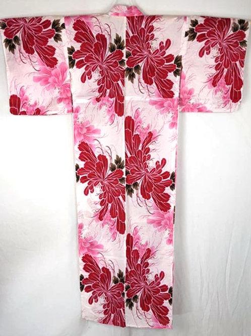 pink yukata from japan