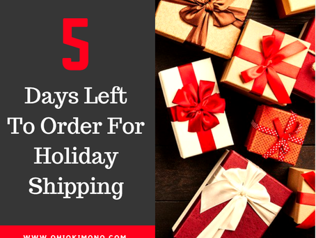5 Days Left For Holiday Orders