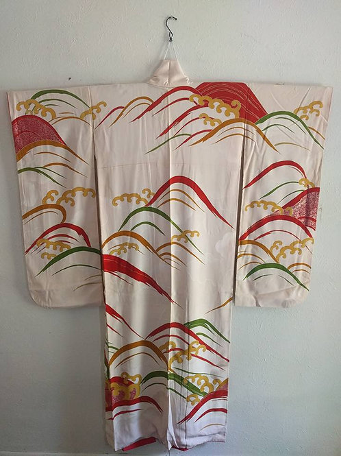 Buy Wave Furisode Kimono