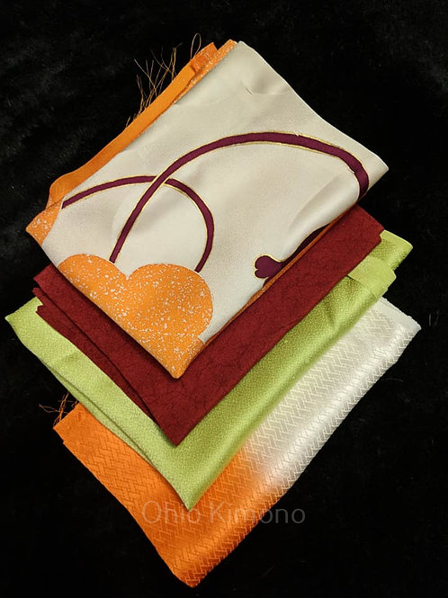 kimono fabric silk bundle