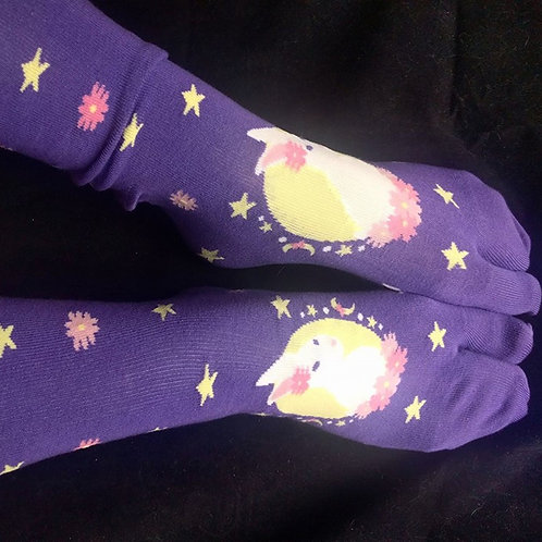 Purple Tabi Socks