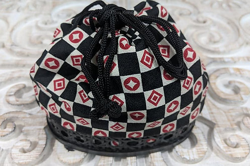 Black & Red Japanese Basket Bags