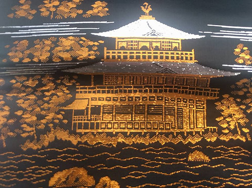 Black Silk - Golden Pavilion Obi