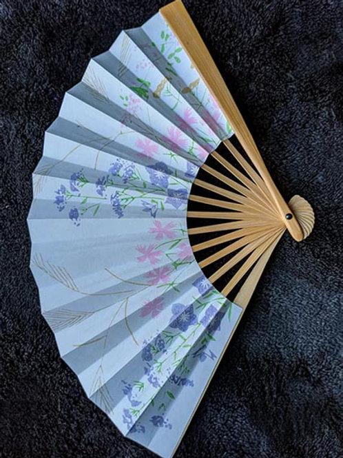 white folding fan from japan