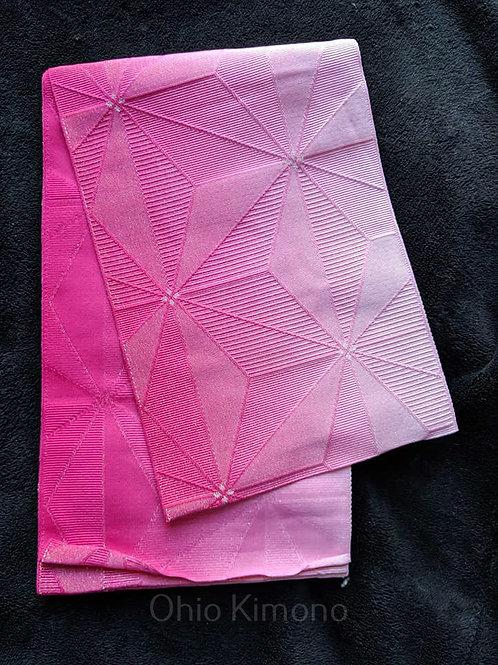 Pink & White Hanhaba Obi