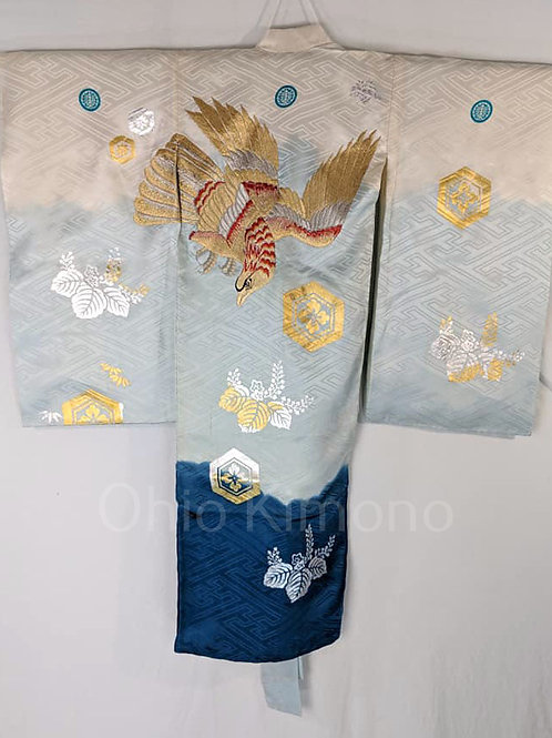 White & Blue Kimono