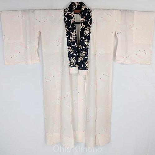 Pale Pink & White Juban