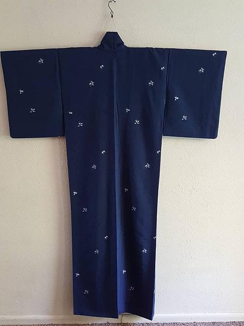 Dark Blue Japanese Kimono