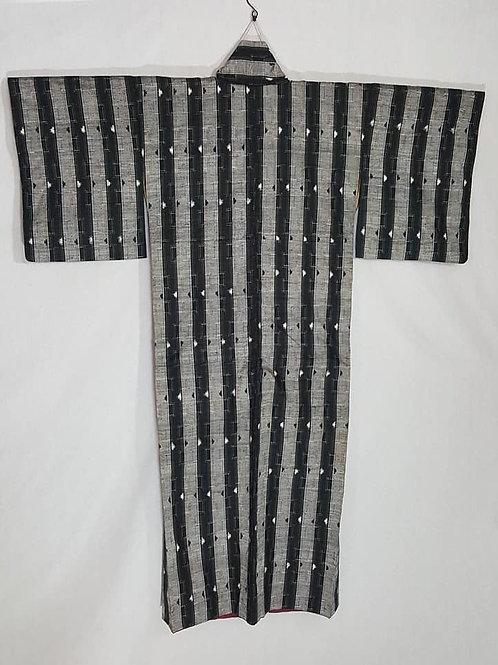 striped japanese kimono