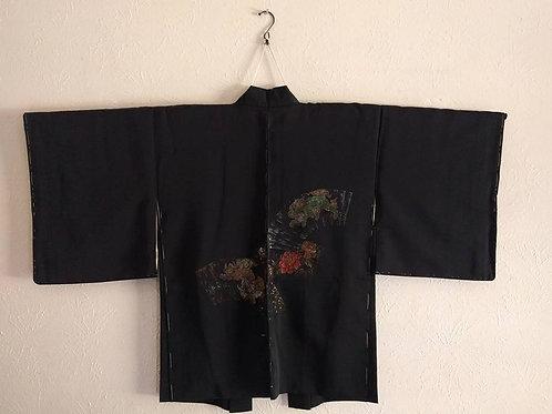 Black Haori For Kimono