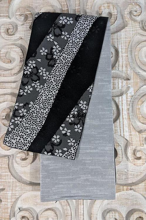 Black & Grey Hanhaba Obi