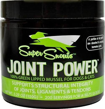 Super Snouts Joint Powder Green Lipped Mussel Powder Supplement 5.29oz (150G)