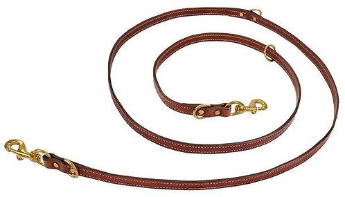 Mendota Pet Leather Jaeger Lead - Chestnut