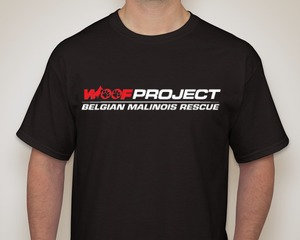 Woof Project Red & White Logo T-Shirt