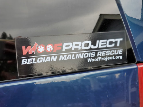 WOOF PROJECT DECAL STICKER 2x8""