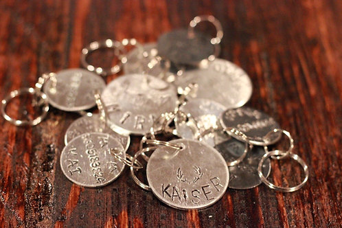 Hand Stamped Aluminum Dog Tags