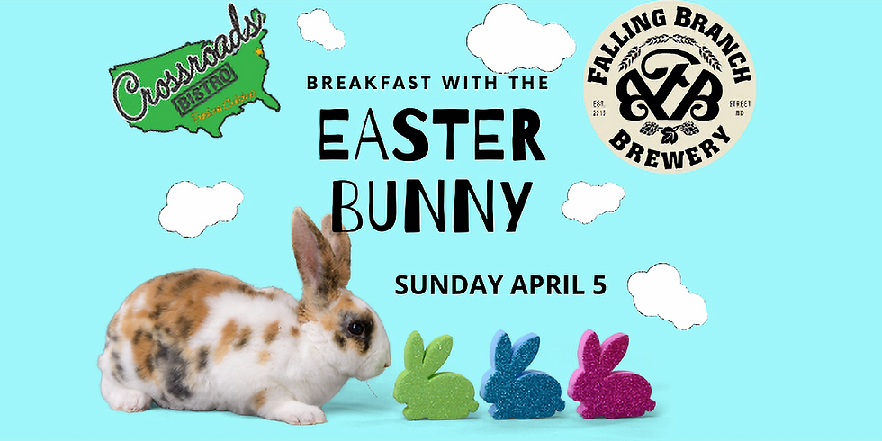 Breakfast with The Easter Bunny at Falling Branch Brewery! (SUNDAY 4/5/2020)