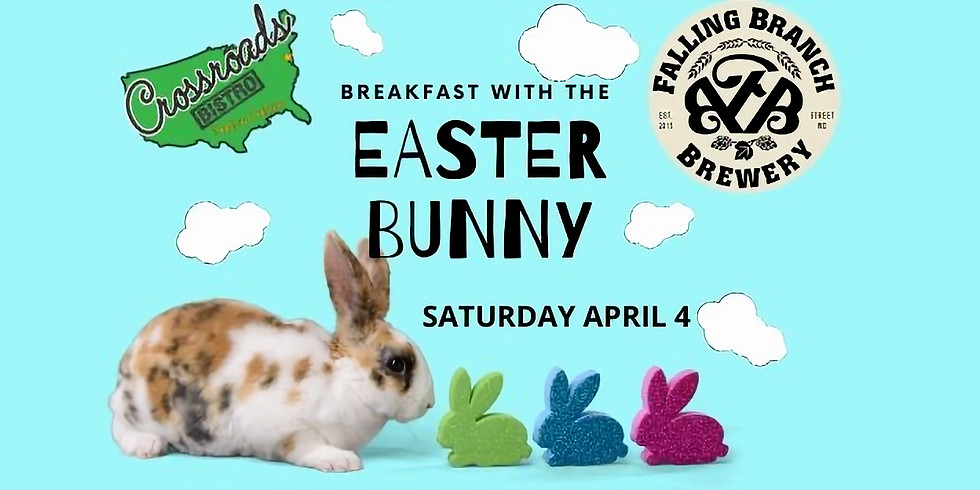 Breakfast with The Easter Bunny at Falling Branch Brewery! (SATURDAY 4/4/2020)