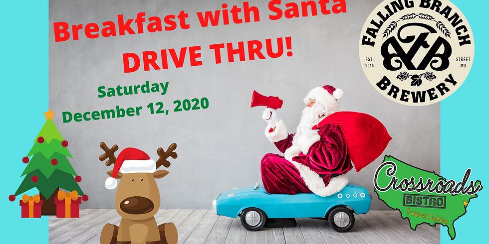 Breakfast with Santa- Drive Thru- at Falling Branch Brewery! Saturday 12/12/2020