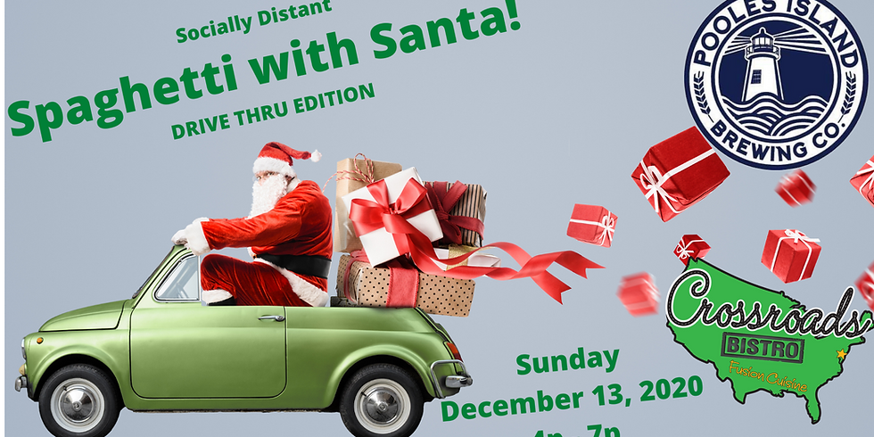 Spaghetti with Santa @ Pooles Island Brewing Co.- Socially Distant and Drive Thru Edition!