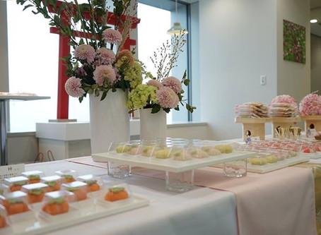 外資系銀行様オープニングレセプションパーティー和菓子ケータリング