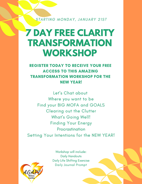 7 DAY FREE CLARITY TRANSFORMATION WORKSH