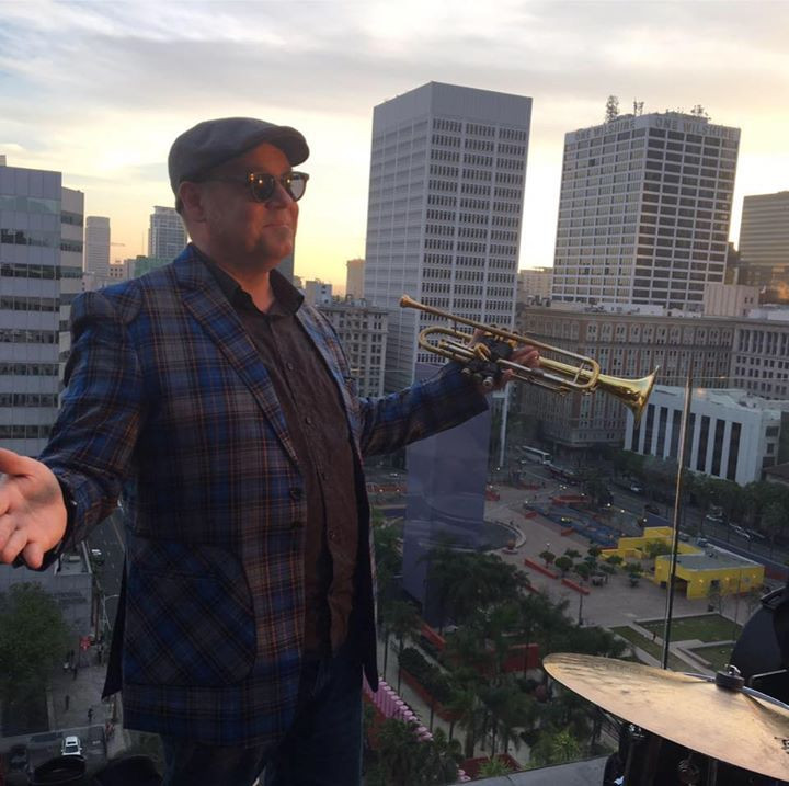 Brian Swartz at Perch overlooking Pershing Square