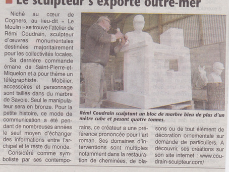 Le sculpteur s'exporte outre-mer