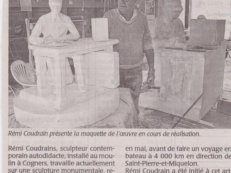 Une sculpture pour Miquelon-Langlade