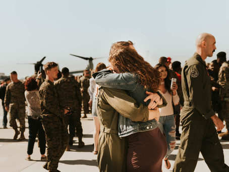 Jen + Andy | Miramar Naval Base | Military Homecoming