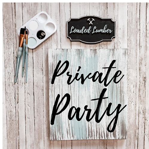 Private DIY Pallet Sign Party Invite Only - Mandy Hargett - Cummings
