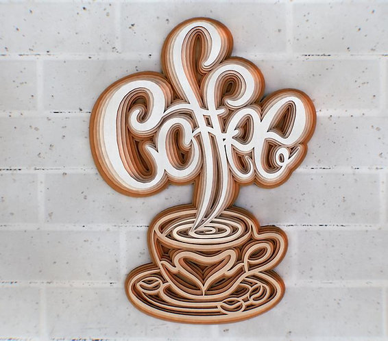 Cup & Coffee 3D Sign