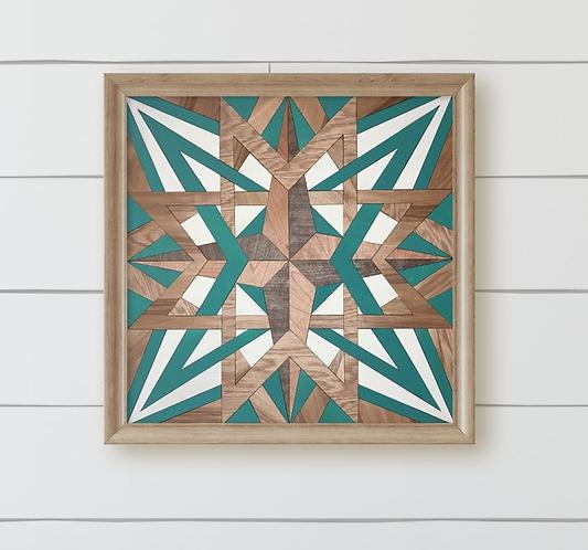 Star Compass Pattern DIY Quilt Craft Box Kit