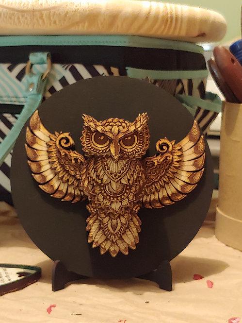 3D Mandala Owl