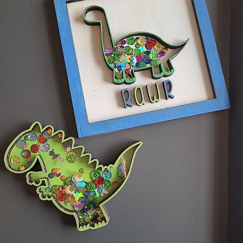 Dino Shaker DIY Craft Box for Kids