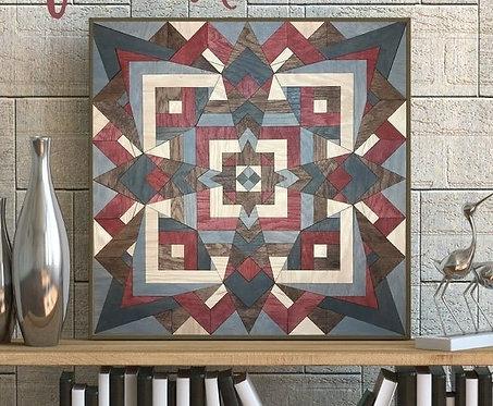 Lotus Pattern DIY Quilt Craft Box Kit
