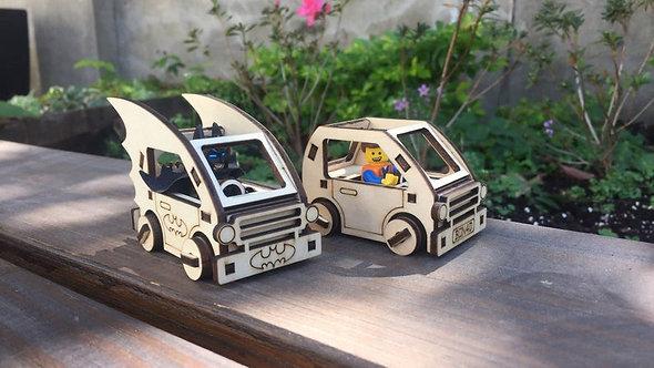 Batman and Lego Car Set Kit  (Lego Men not Included)