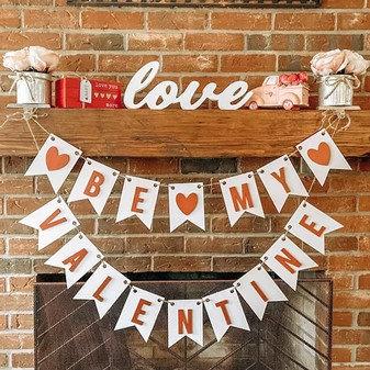 Be My Valentine Banner DIY KIT
