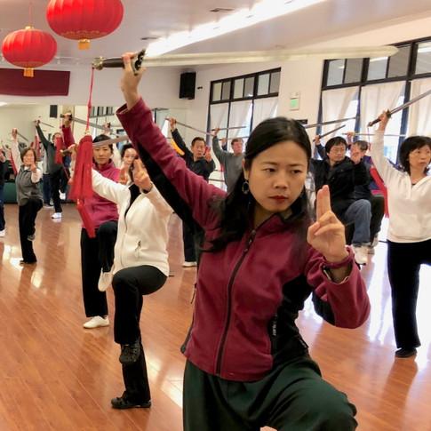Tai chi Sword form class