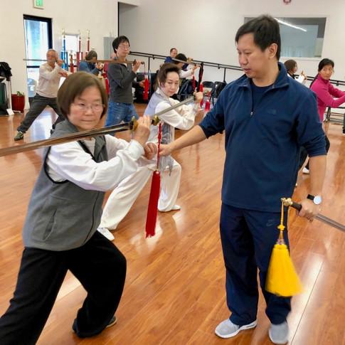 Master Yang Jun and student