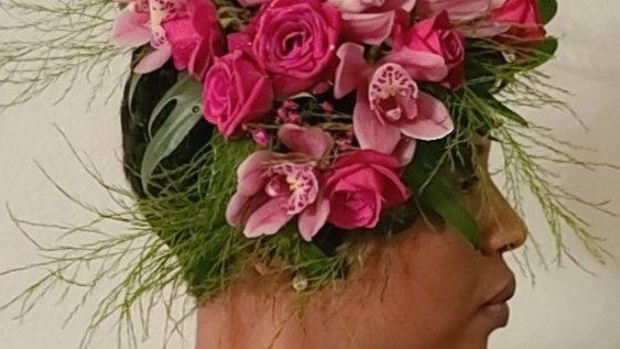 Silk Floral Head Piece